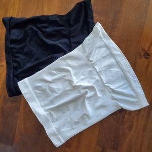 Blanqi Belly Bands Black/White Size L/XL